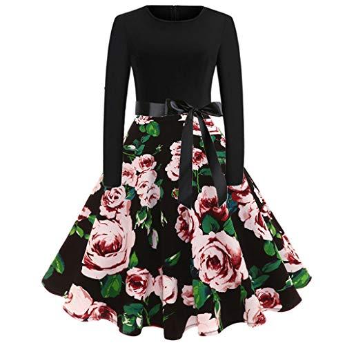 Hula Girl Costumes Plus Size - TOTOD Vintage Dress, Women Elegant Long