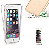 For iPhone 7 Plus Case Cover [with Free Screen Protector],Funyye Full Coverage 360 degree Soft Flexible TPU Gel Transparent Front and Back Non-slip Shock Absorbent Protective Cover for iPhone 7 Plus (5.5 inch)-Transparent