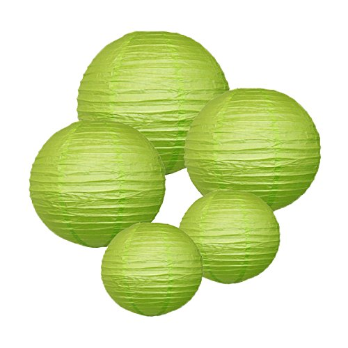 Just-Artifacts-LIGHT-GREEN-ChineseJapanese-Paper-Lanterns-Assorted-2-8inch-2-12inch-1-16inch-Click-for-more-colors