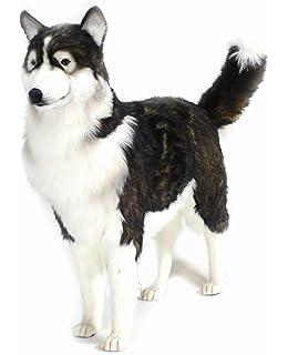 Hansa Husky Dog Plush, Life Size