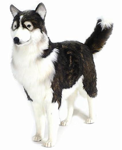 Amazon Com Hansa Husky Dog Plush Life Size Toys Games