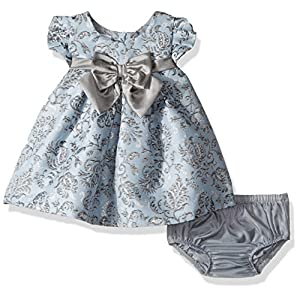 Best Epic Trends 51dHdnT66pL._SS300_ Bonnie Baby Baby Girls Short Sleeve Jacquard Party Dress