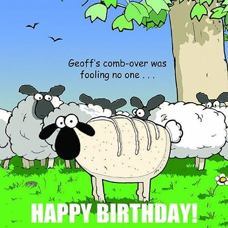 Twizler Funny Biglietto Di Compleanno Con Pecore Per Uomo Happy