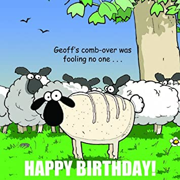 Twizler Funny Birthday Card With Sheep For Man Happy Birthday Card