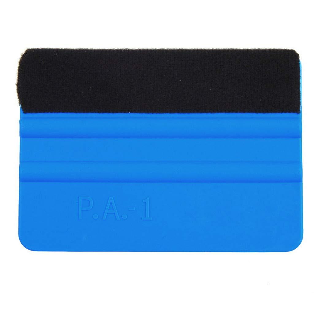 Likero Blue 1/3 PC Plastic Felt Edge Squeegee Squeegee Tool Pro Vinyl Wrap Car Wrapping Carbon Matte Gloss Chrome (A)