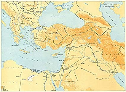 Middle East Map Before Ww2.Amazon Com Turkey E Mediterranean Middle East Balkans Railways Oil