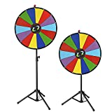Generic NV_1008004096_YC-US2 <8&40961> ig GameFolding Tri w Folding Tripod 24'' Color Floor Stand Prize Wheel Fortune Carnival Spinnig Game 24'' Color P