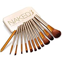 NAKEDPLUS Makeup Brushes Kit with A Storage Box - Set of 12