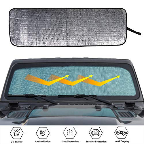 for 2018 Jeep Wrangler JL Windshield Sunshade Sun Shade Heat Shield Sun Visor Mat