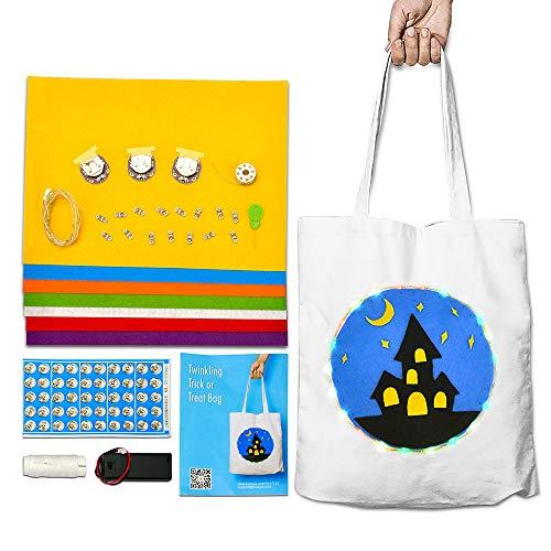 KOOKYE Twinkling Trick or Treat Bag Sewable LED Soft -