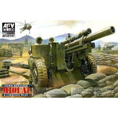 105mm Howitzer M101A1 Gun w/M2A2 Carriage 1/35 AFV Club