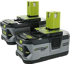Ryobi P122 ONE+ 18-Volt Lithium Plus High Capacity 4-Ah Batteries (2-Pack of P108)