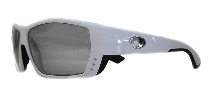 3bc9c677a5e6 New Costa Del Mar TA 25 Tuna Alley White Square Sunglasses for Mens - Size  580G