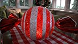 Design Accents Outdoor/Indoor Battery Operated Candy Luminary, Red