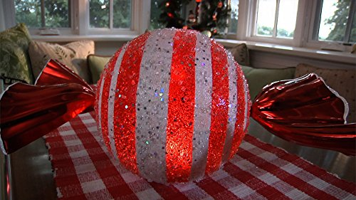 Design Accents Outdoor/Indoor Battery Operated Candy Luminary, Red]()