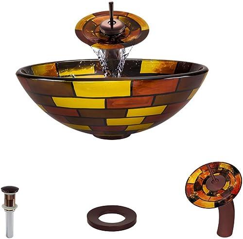 621 Oil Rubbed Bronze Waterfall Faucet Bathroom Ensemble