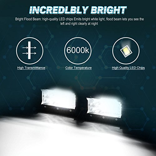 XYH-Led-Light-Bar-5Inch-72W-10800Lumens-Two-Rows-Modified-Off-Road-Lights-Light-BarTrucks-Forklifts-Roof-Light-Bar3Years-Warranty