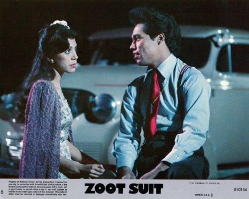 Zoot Suit Daniel Valdez Tyne Daly original lobby - Suit Silver Zoot