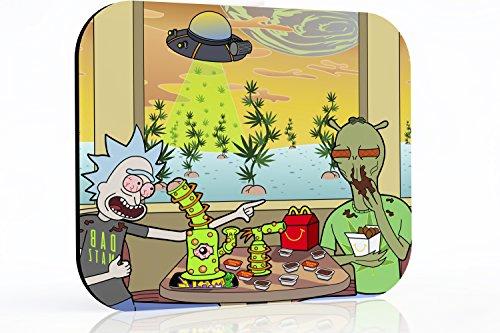 8x10 inch Rick and Morty dab mat - Szechuan Sesh at Shoneys