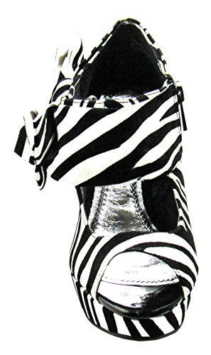 shoe 7 37 Womens M Forever Zebra 5 flat Black US D Dynamite pqnxwa1