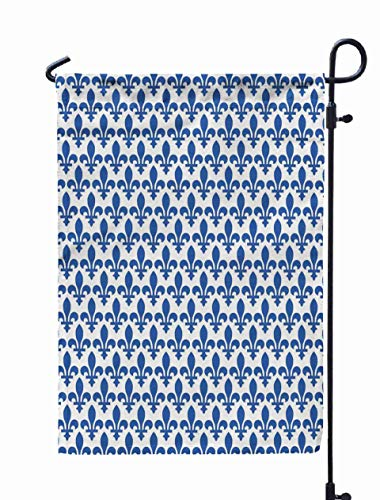 Shorping Welcome Garden Flag, 12x18Inch Fleur Lis Wallpaper for Holiday and Seasonal Double-Sided Printing Yards -