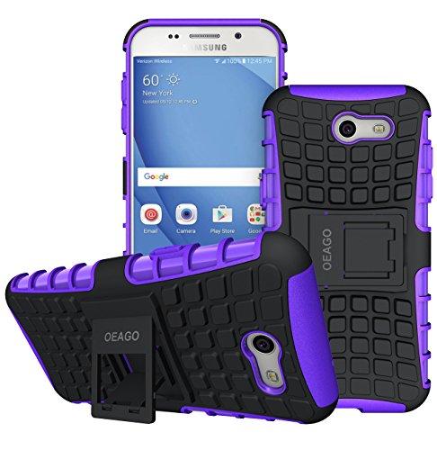 OEAGO Samsung Galaxy J3 Emerge / J3 Prime / J3 Eclipse / J3 2017 / J3 Luna Pro / J3 Mission/Sol 2 / Amp Prime 2 / Express Prime 2 Case, Tough Rugged Dual Layer Case with Kickstand (Purple)