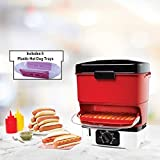 Starfrit 024730-002-0000 Electric Hot Dog Steamer, Red