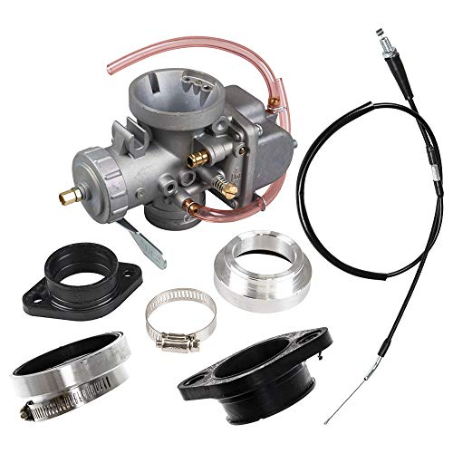 Performance Carburetor Assembly For 1987-2004 Yamaha Big Bear Warrior Wolverine Replaces 3GD-14101-00-00 1UY-14101-00-00 (Yamaha Warrior 350 Throttle Cable)