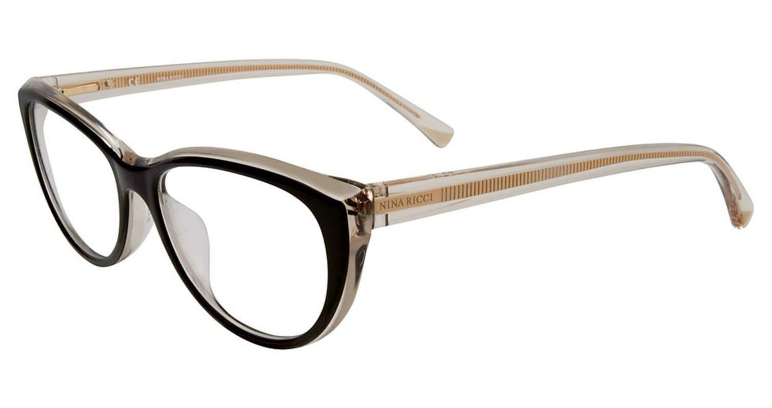 Eyeglasses Nina Ricci VNR 070 Blackbeige 09Lm by Nina Ricci