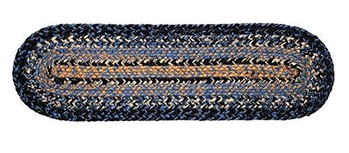 IHF Home Decor River Shale | Stair Treads Braided Area Rugs Oval for Outdoor, Indoor, Porch, Farmhouse | 100% Natural Jute Material Carpet Pads | Modern Contemporary Washable - Size 8