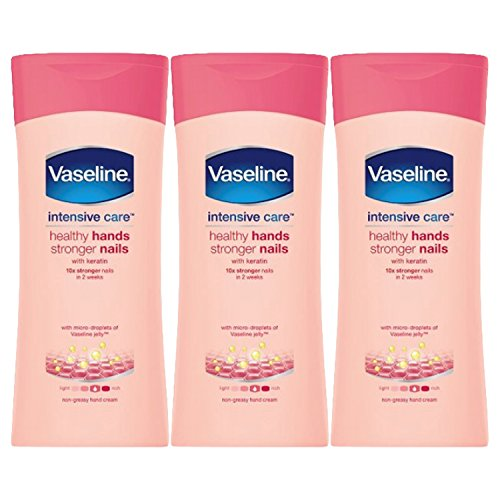 Vaseline Healthy Hand and Stronger Nails Hand Cream, 6.76 Ounce (200 ML) Pack of 3