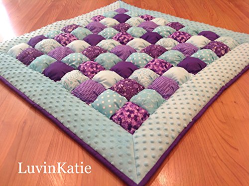 Bubble Puff Quilt for Floor Time in Purple and (Bubble Puff)