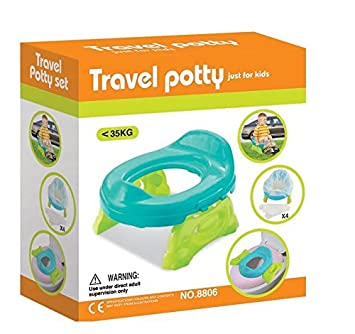 Toys Bhoomi 2 in 1 Baby's Travel and Toilet Trainer with Liners Potty Seat