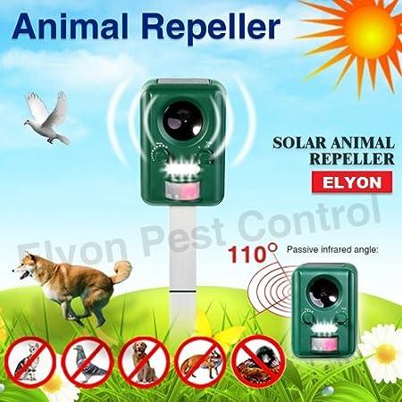 Potente Y Eficaz 2014 SOLAR recargable Funciona Con Pilas Ultra Sonic Perro Fox Gato Repelente De Plagas - 25cm No Se Oxidan Aluminio Piqueta - PILAS ...
