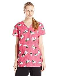 24|7 Comfort Scrubs Womens V Neck Top Medical Scrubs Shirt