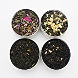 4 Flavors Blend Tea Rose White tea Peach Oolong Tea Chocolate Green Tea Hazelnut Black Tea 40 Serving Gift Tea