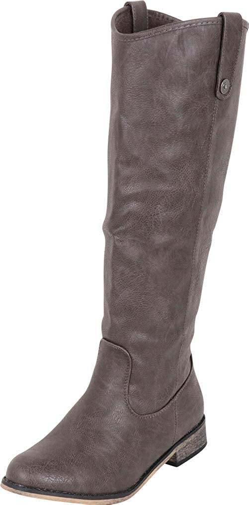 Grey Pu Cambridge Select Women's Western Riding Knee-High Cowboy Boot