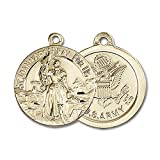 14kt Yellow Gold St. Joan of Arc Medal 7/8 x 3/4 inches