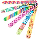 10 PCS Colorful Printing Style Professional Double Sided Nail Files Emery Board Grit Gel Cosmetic Manicure Pedicure