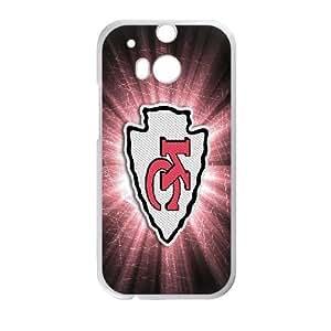HTC One M8 Phone Case White Kansas City Chiefs JDL690024