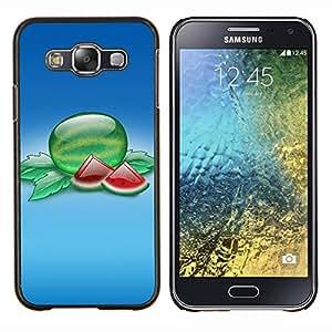 For Samsung Galaxy E5 E500 Case , Naturaleza Hermosa Forrest Verde 86- Diseño Patrón Teléfono Caso Cubierta Case Bumper Duro Protección Case Cover Funda