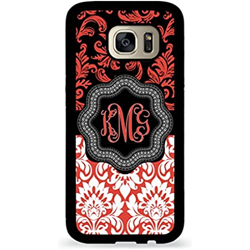 Custom Phone Case Galaxy S7 Case iZERCASE Monogram Personalized Pavilion Red and White for Samsung Galaxy S7 (PAVILION RED) Sales