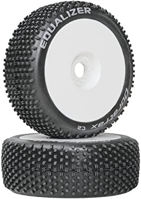 Duratrax X-Cons 1:8 Scale RC Buggy Tires with Foam Inserts,Mounted