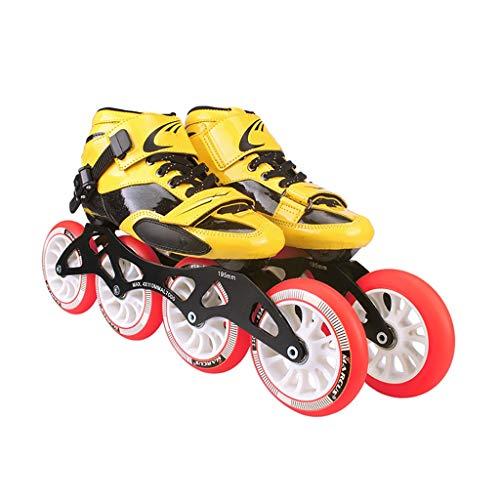 何よりもスラムコアNUBAOgy インラインスケート、直径90-110 Mmの高弾性PUホイール、調整可能なインラインスケート、4色 (色 : Green, サイズ さいず : 39)