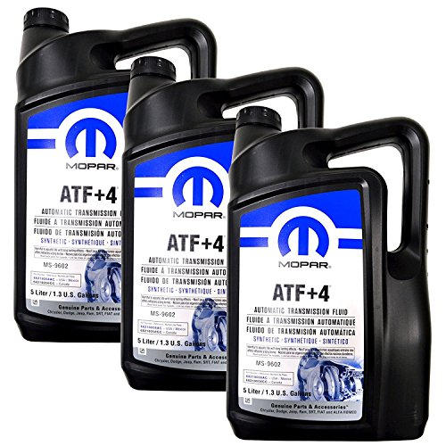 Mopar Automatic Transmission Fluid ATF+4 - 5 Liter (1.3 Gallon) 3 Pack (5 Automatic Transmission)