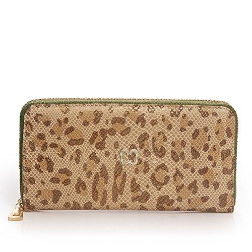 Eric Javits Luxury Fashion Designer Women's Handbag - Zip Wallet - Leopard by Eric Javits