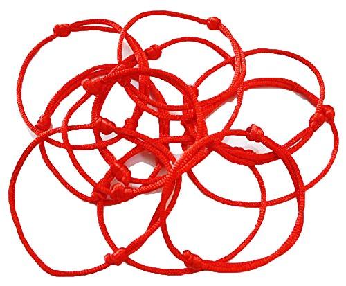 Coolrunner Lot – 24 Kabbalah Red String Bracelets Evil Eye Jewelry Kabala Charm Fashion Bangle (Red 24)