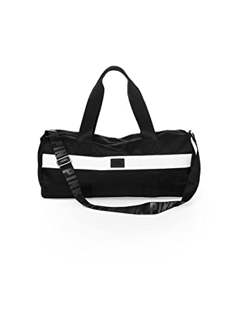Victoria s Secret PINK Duffle Gym Bag - Black   White 19f8e53143018
