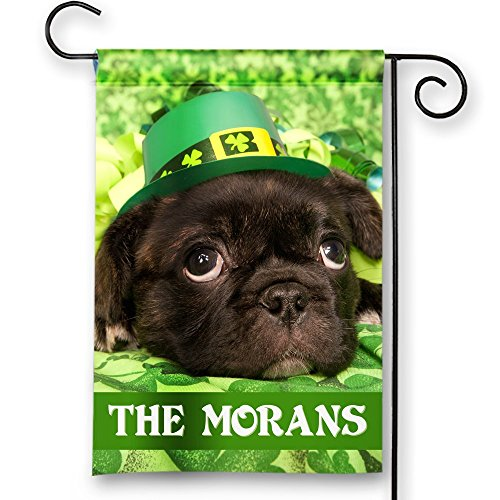 St. Patrick's Day Irish Dog Personalized Theme Double-Sided Garden/House Flag Review