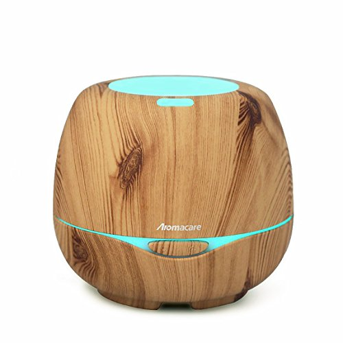 Aromacare Essential Oil Diffuser 300ML, Cool Mist Aroma Diffuser, Young Living Diffuser With 7 Color LED Lights Waterless Auto Shut-off for Office Home Bedroom Bathroom Yoga Spa - Wood Grain